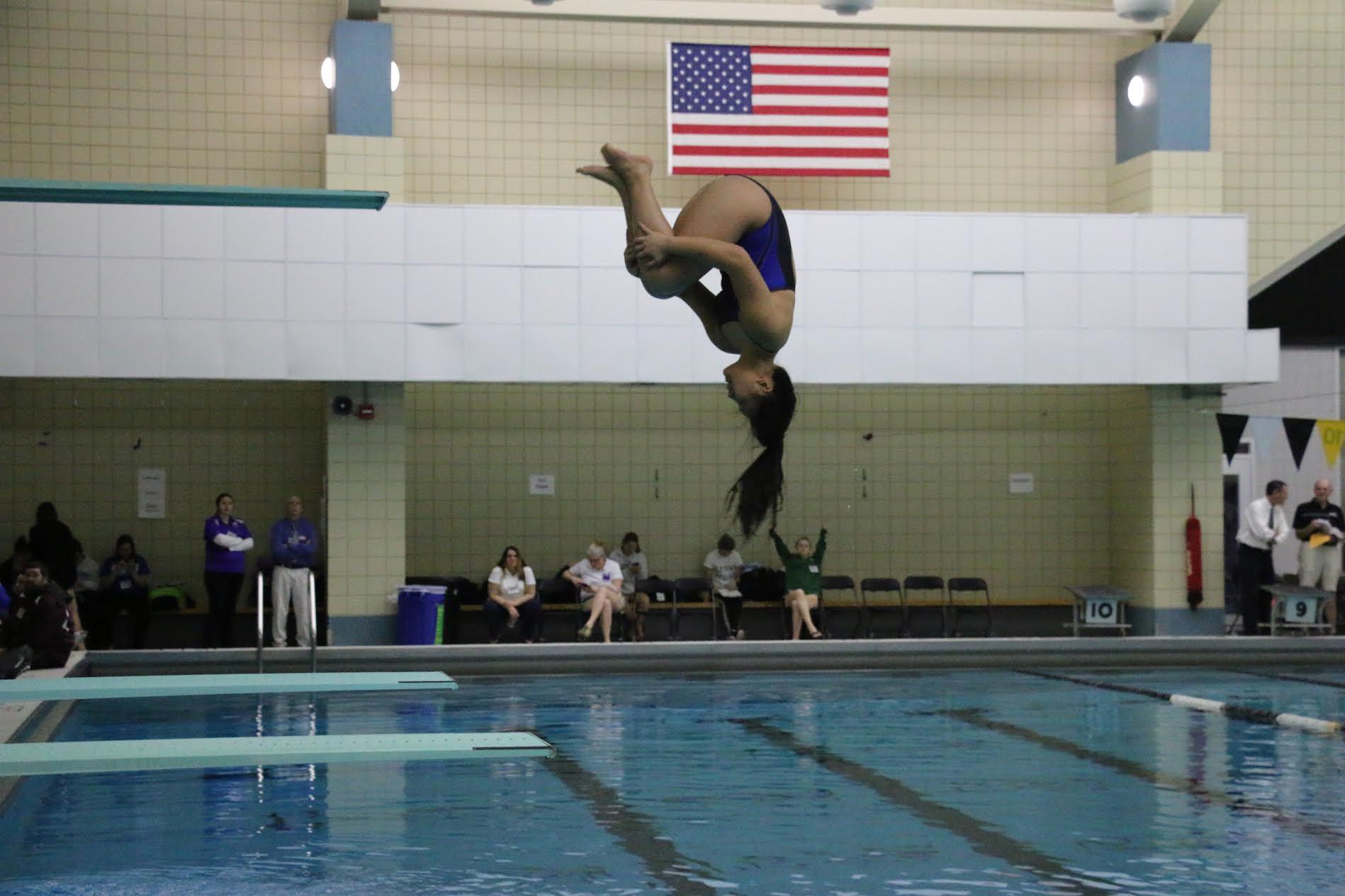 Junior diver Maggie Nguyen