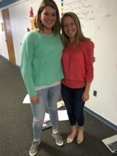 Juniors Katherine Koch and Quinn Normando