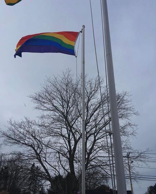The+raising+of+the+equality+flag+at+Kennebunk+High+School+on+March+3rd%2C+2017.+